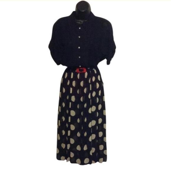 Harco Dresses & Skirts - Harco Vintage SHEER polka dot dress.